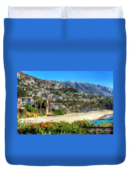 Houses By The Sea Duvet Cover