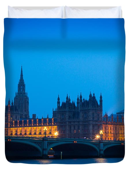 Houses Of Parliament Duvet Cover by Inge Johnsson