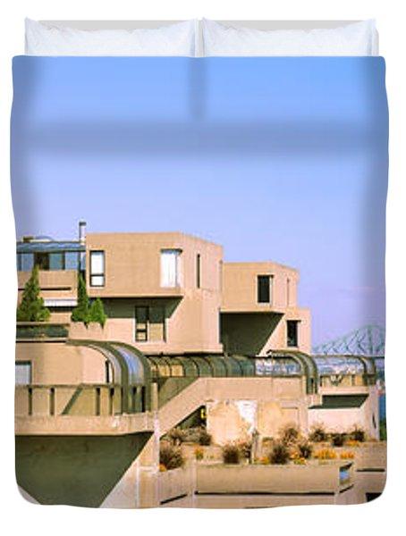 Housing Complex With A Bridge Duvet Cover