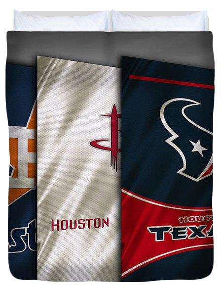 Houston Sports Teams Duvet Cover