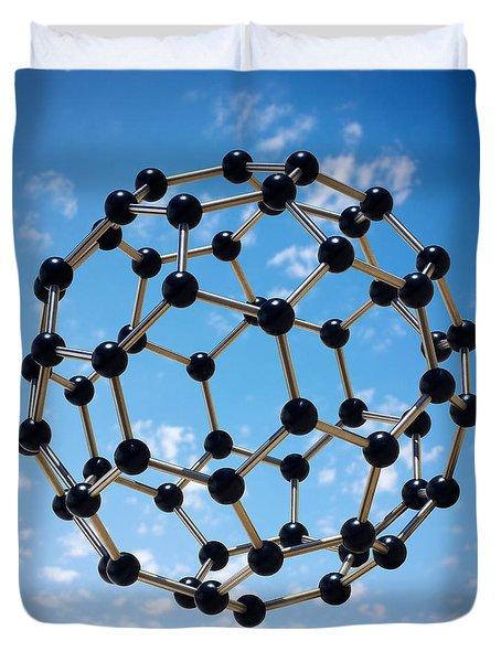 Hovering Molecule Duvet Cover