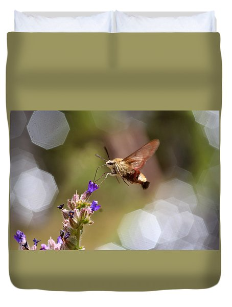 Hovering Pollination Duvet Cover