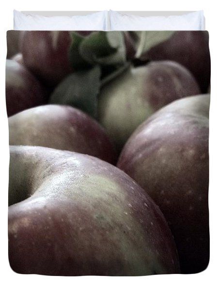 Duvet Cover featuring the photograph How Do You Like Them Apples by Photographic Arts And Design Studio