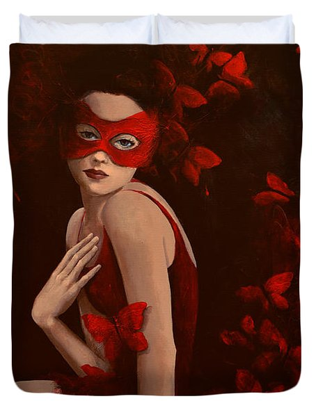 How Long Do Butterflies Live Duvet Cover by Dorina  Costras
