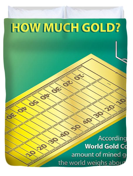 How Much Gold Duvet Cover
