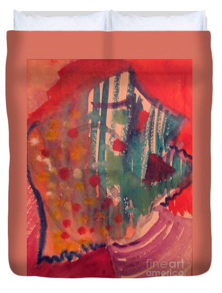 How Much I Loved You Original Contemporary Modern Abstract Art Painting Duvet Cover