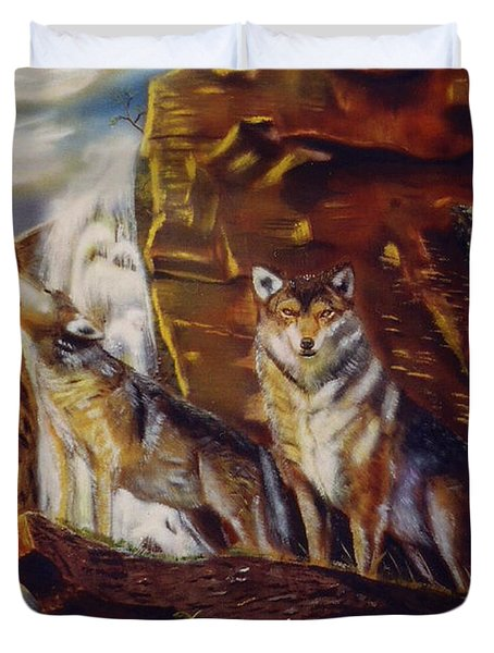 Howling For The Nightlife  Duvet Cover