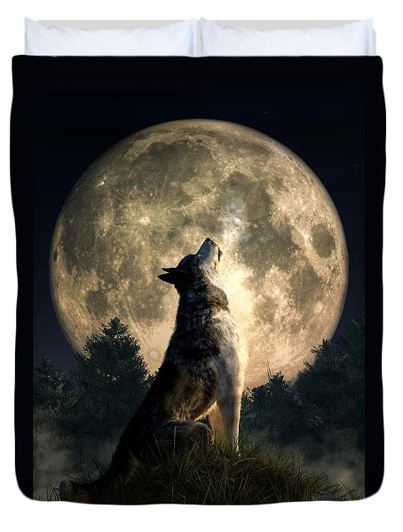 Howling Wolf Duvet Cover