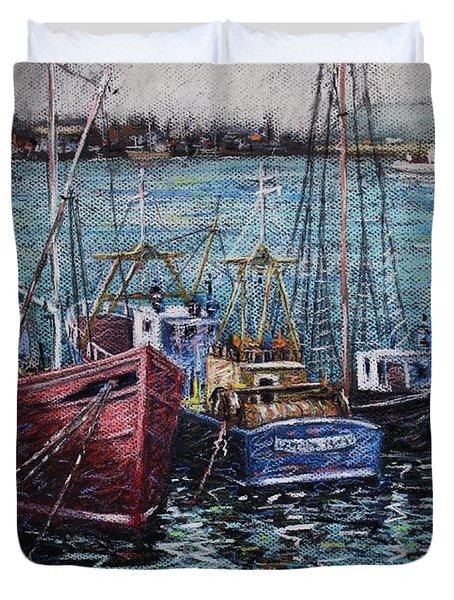 Howth Harbour  Dublin Duvet Cover by John  Nolan