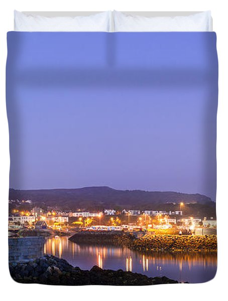 Howth Harbour Lighthouse Duvet Cover