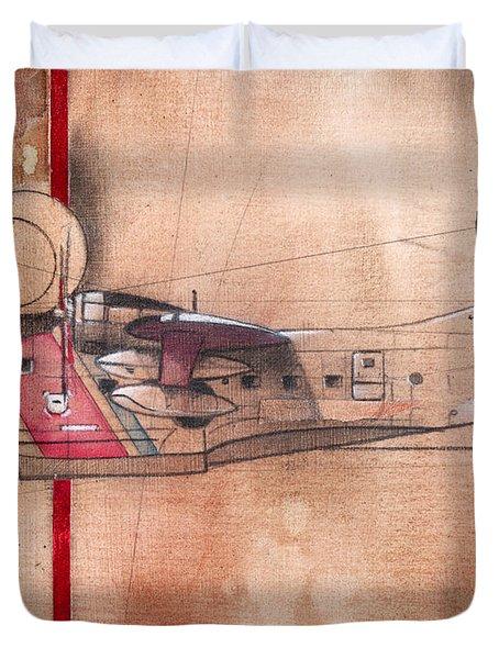 Hu 16 Albatross Duvet Cover