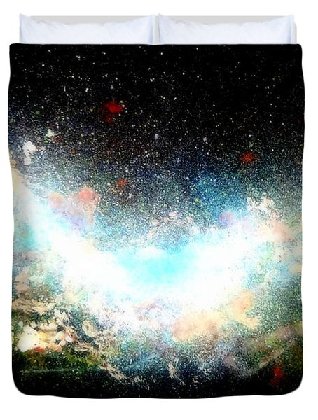 Hubble Birth Of A Galaxy Duvet Cover