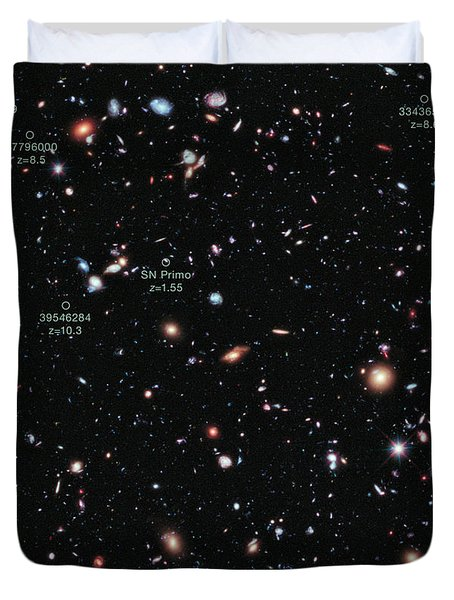 Hubble Extreme Deep Field Xdf Duvet Cover by Science Source