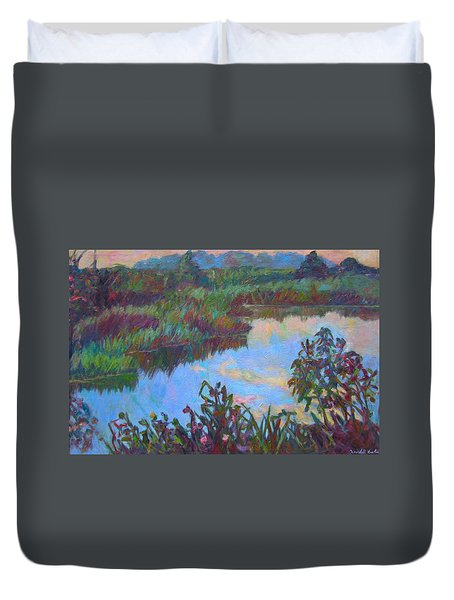 Huckleberry Line Trail Rain Pond Duvet Cover by Kendall Kessler