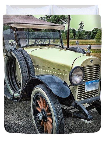 Duvet Cover featuring the photograph hudson 1921 phaeton car HDR by Paul Fearn
