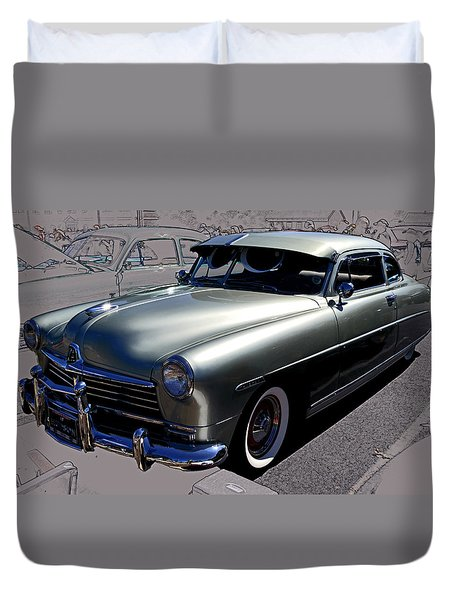 Duvet Cover featuring the photograph Hudson by Larry Bishop