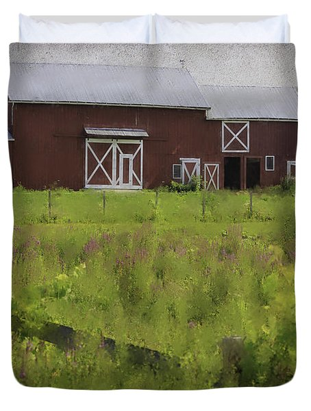 Hudson Valley Barn Duvet Cover by Fran Gallogly
