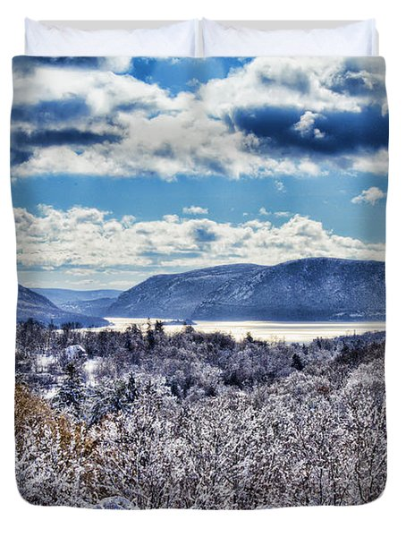 Hudson Valley First Snow Mystic Colors Duvet Cover
