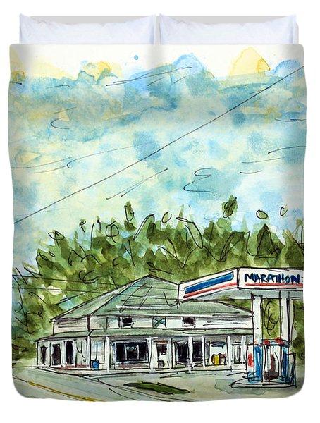 Huff's Market Duvet Cover by Tim Ross