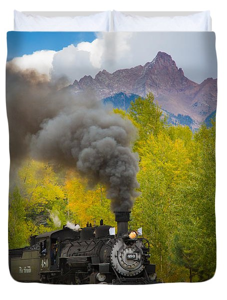 Huffing And Puffing Duvet Cover by Inge Johnsson