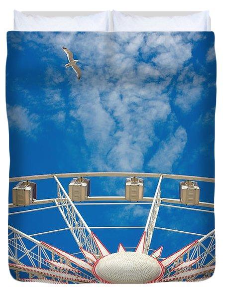 Huge Ferris Wheel Duvet Cover