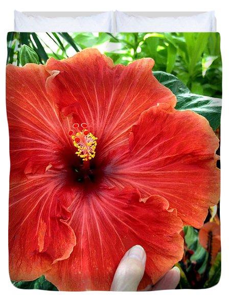 Huge Hibiscus Duvet Cover