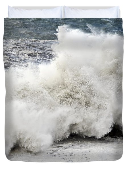 Huge Wave Duvet Cover by Antonio Scarpi
