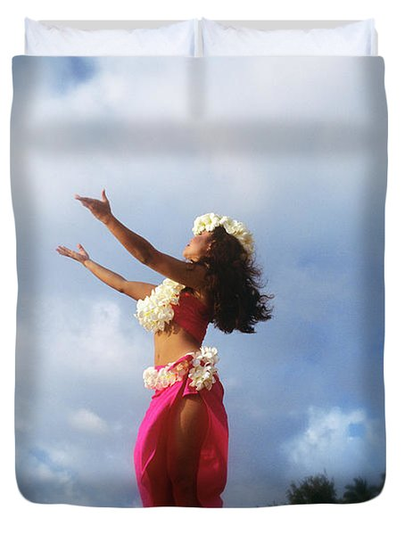 Hula Dancer Hawaii Duvet Cover