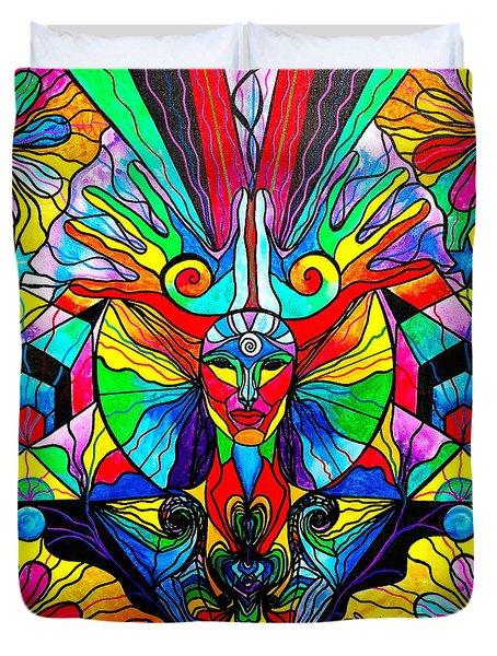 Human Self Awareness Duvet Cover by Teal Eye  Print Store