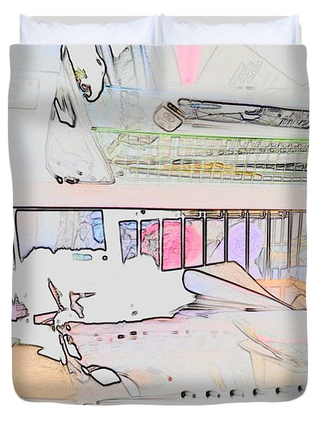 Duvet Cover featuring the photograph Human Technology by Fortunate Findings Shirley Dickerson