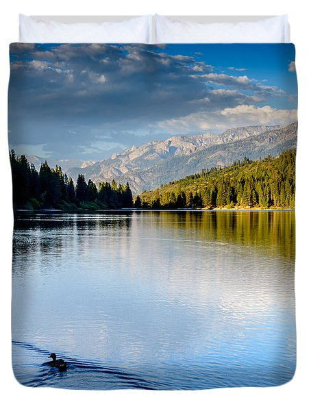 Hume Lake Evening Duvet Cover
