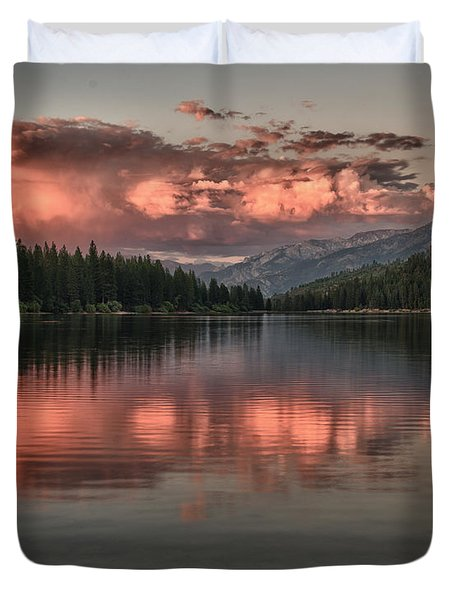 Hume Lake Sunset Duvet Cover
