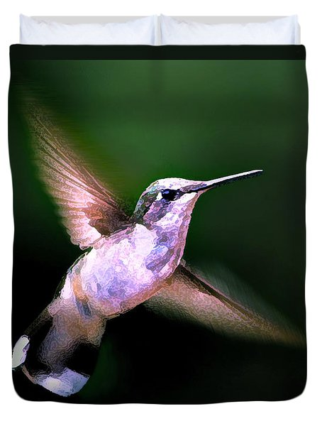 Duvet Cover featuring the photograph Hummer Ballet 1 by ABeautifulSky Photography