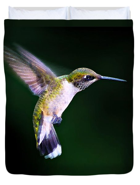 Duvet Cover featuring the photograph Hummer Ballet 2 by ABeautifulSky Photography