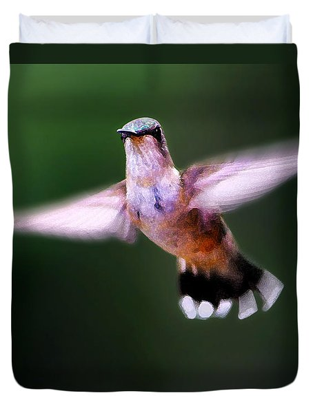 Duvet Cover featuring the photograph Hummer Ballet 3 by ABeautifulSky Photography