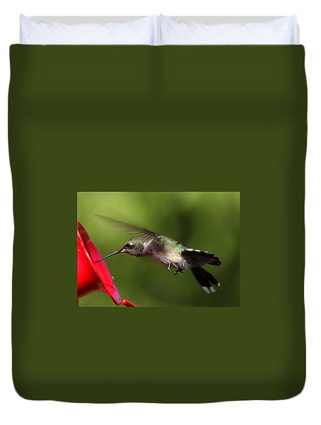 Look Hummingbird Eyelashes Duvet Cover