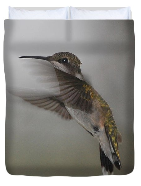 Duvet Cover featuring the photograph Hummingbird 6 by Leticia Latocki