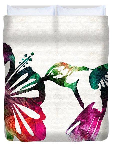 Hummingbird Art - Tropical Chorus - By Sharon Cummings Duvet Cover