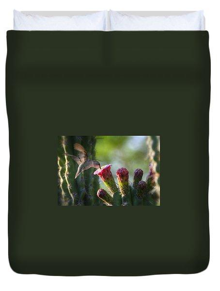 Hummingbird Breakfast Southwest Style  Duvet Cover