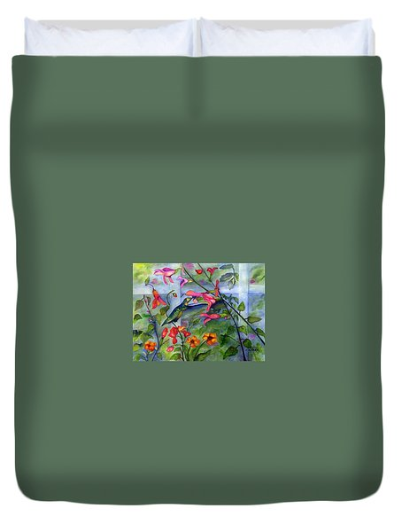 Hummingbird Dance Duvet Cover