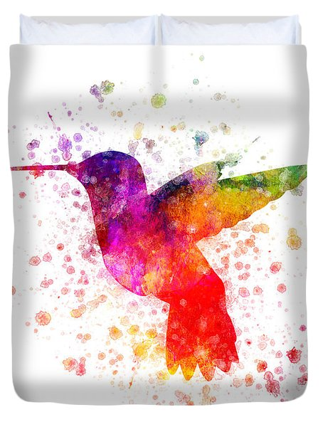 Hummingbird In Color Duvet Cover by Aged Pixel