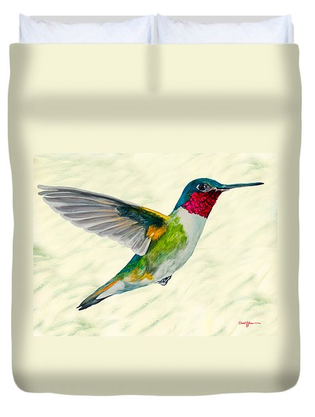 Da103 Broadtail Hummingbird Daniel Adams Duvet Cover