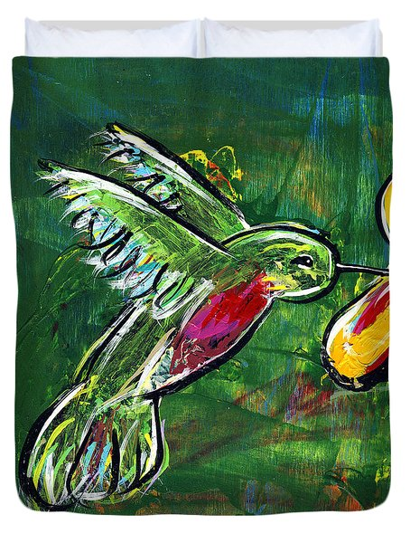 Hummingbird Iv Duvet Cover