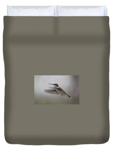 Duvet Cover featuring the photograph Hummingbird  by Leticia Latocki