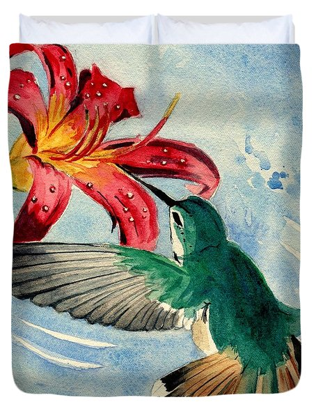 Hummingbird Duvet Cover by Melly Terpening