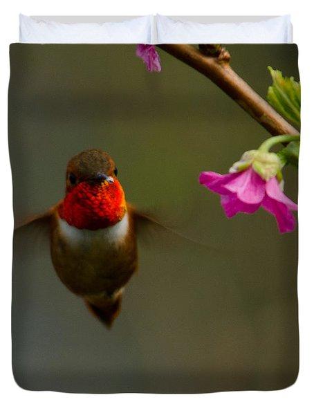 Hummingbird Duvet Cover by Tikvah's Hope