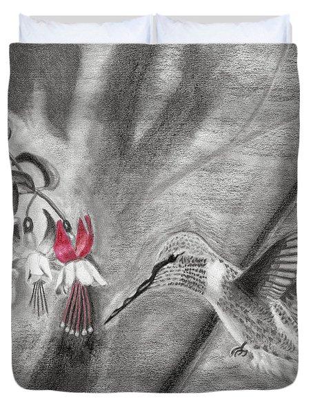 Hummingbird Duvet Cover by Susan Schmitz