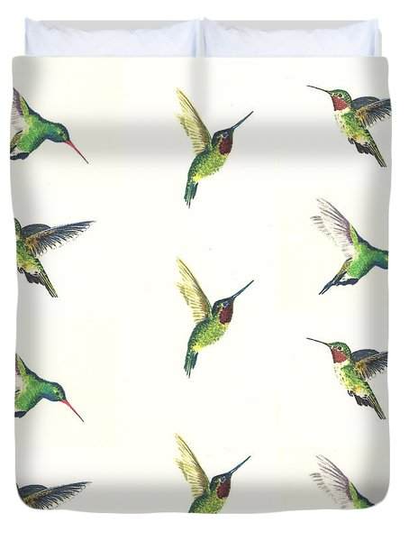 Hummingbirds Number 2 Duvet Cover