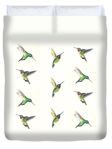 Hummingbirds Number 2 Duvet Cover by Michael Vigliotti