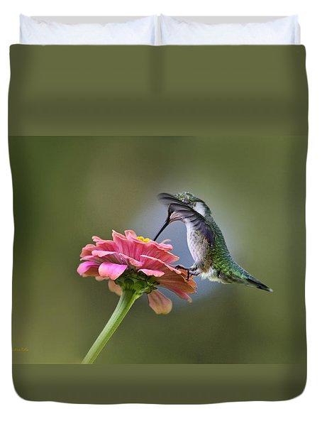Hummingbirds Pure Goodness Duvet Cover by Christina Rollo